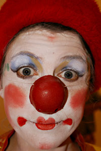 Aude en clown